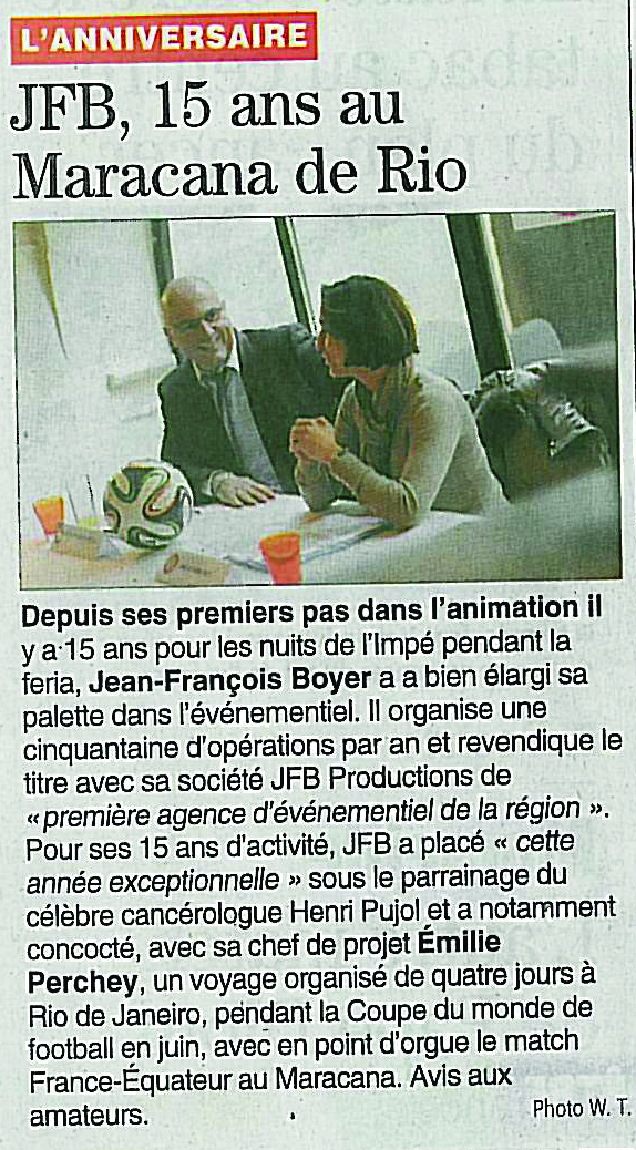 Article Presse-Midi Libre 06-02-2014